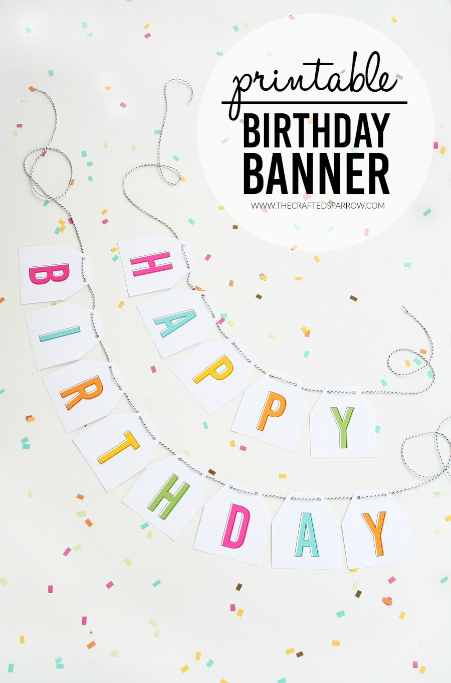 Free Printable Birthday Banner - Free Printable Happy Birthday Banner