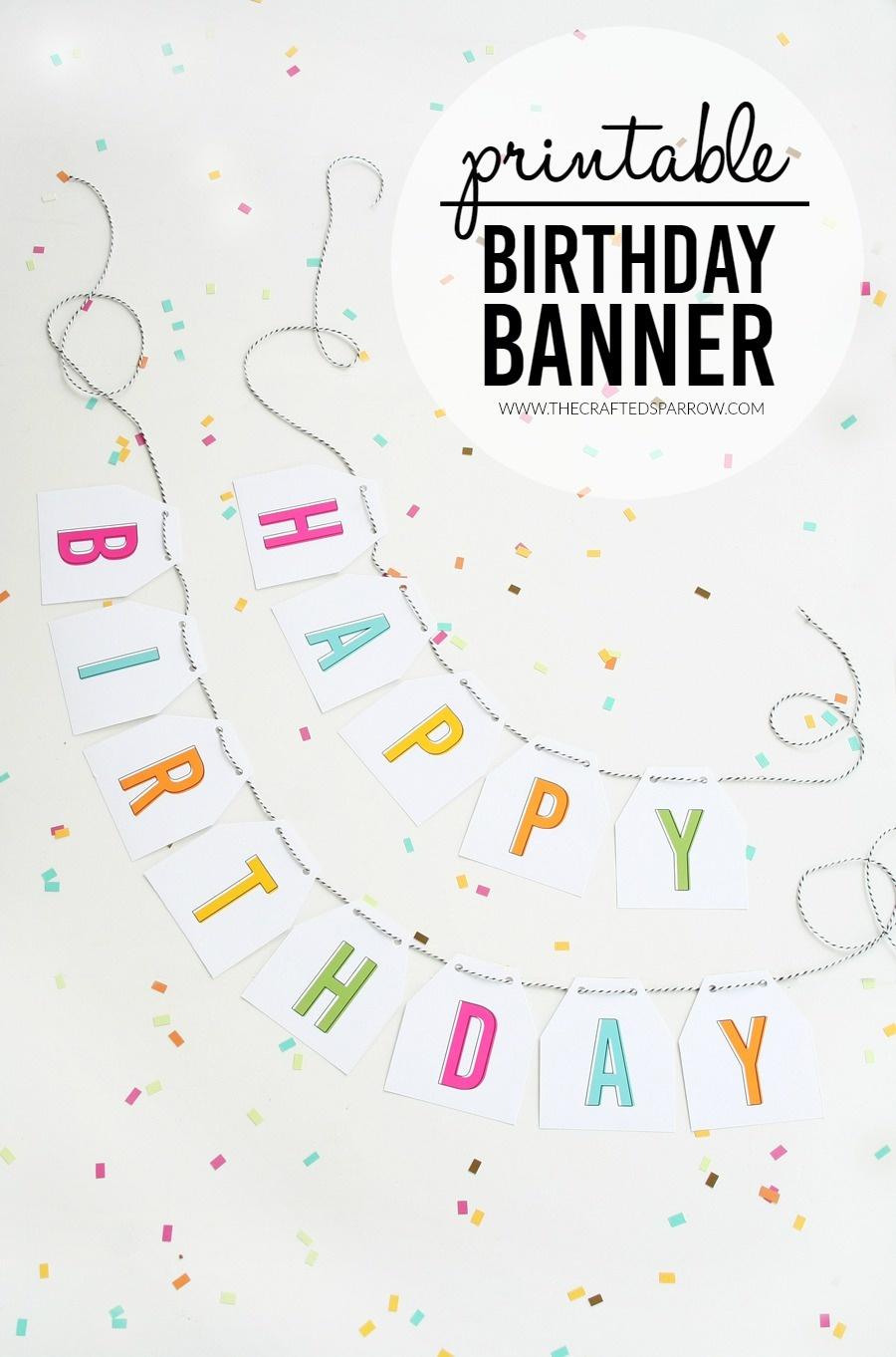 Free Printable Birthday Banners - The Girl Creative - Free Printable Happy Birthday Signs