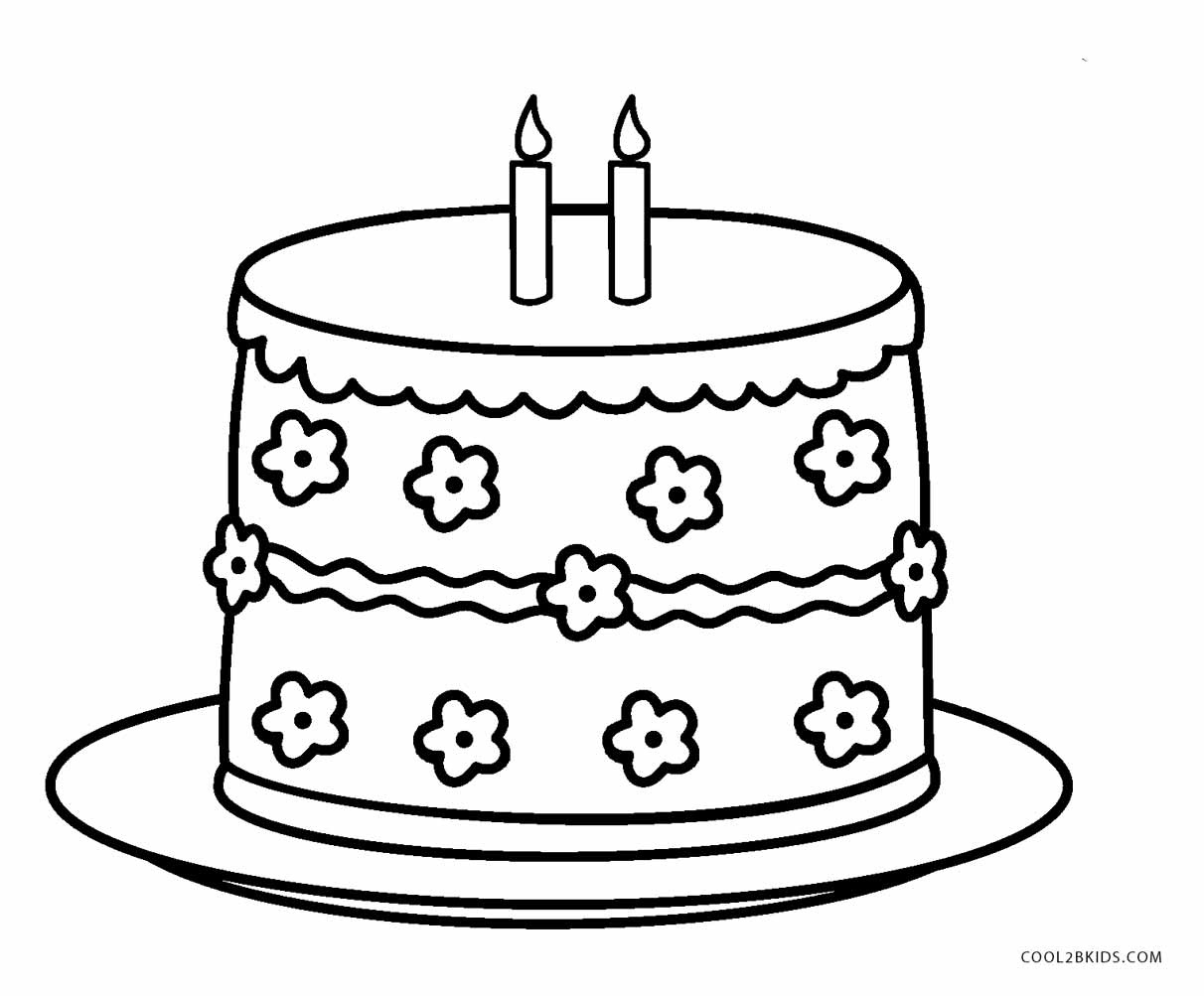 Free Printable Birthday Cake Coloring Pages For Kids | Cool2Bkids - Free Printable Birthday Cake
