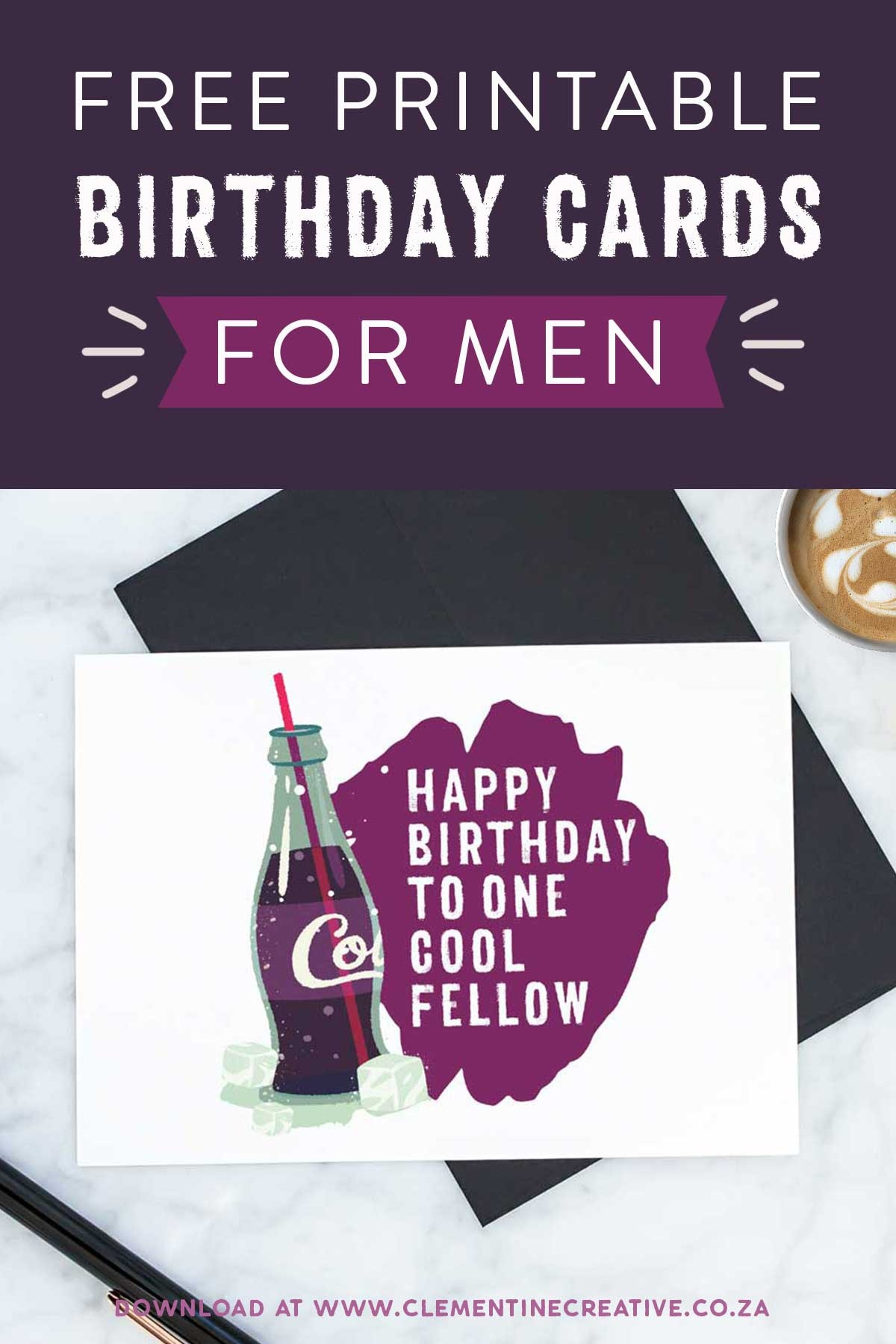 Free Printable Birthday Cards For Him   Stay Cool - Free Printable Birthday Cards For Dad