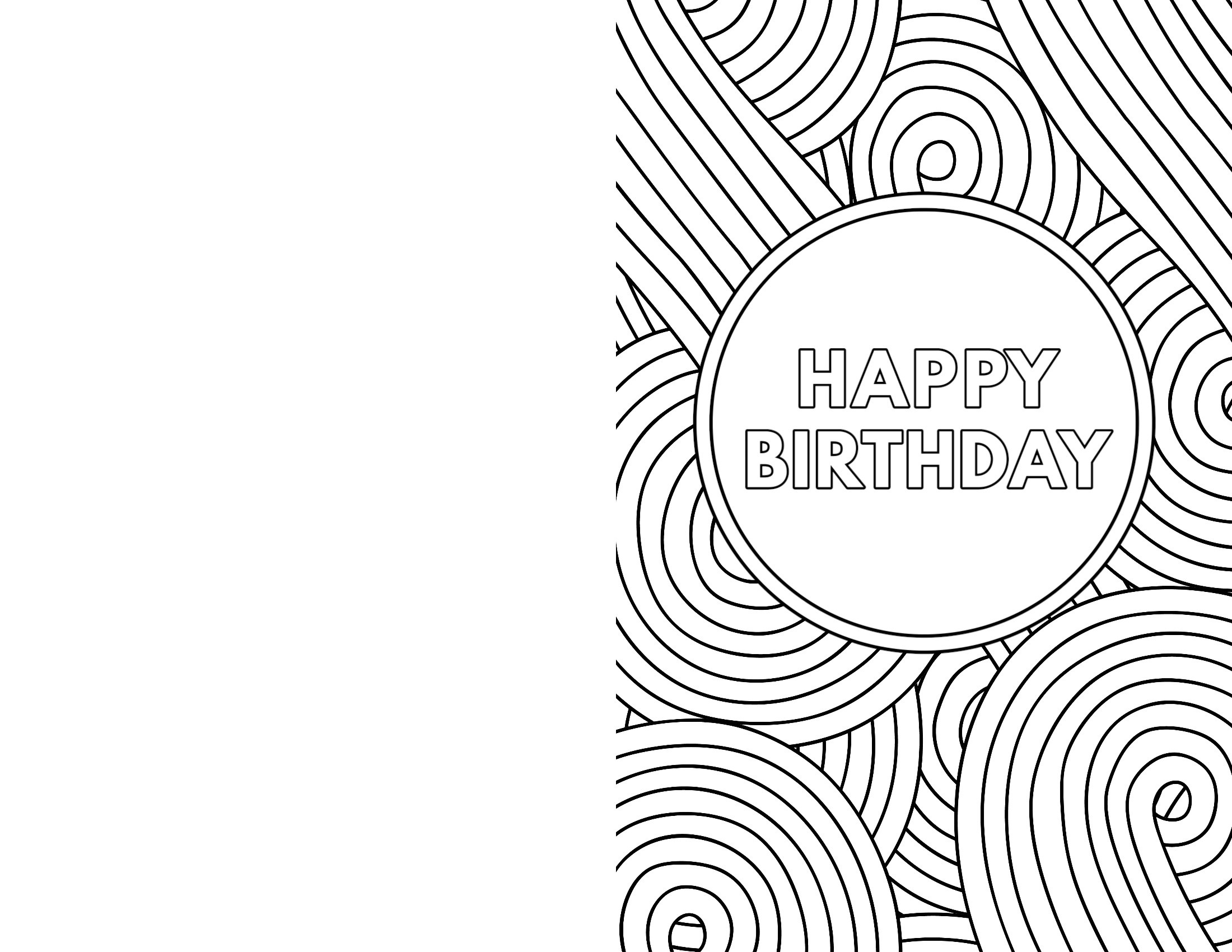 Free Printable Birthday Cards - Paper Trail Design - Free Printable Birthday Cards To Color