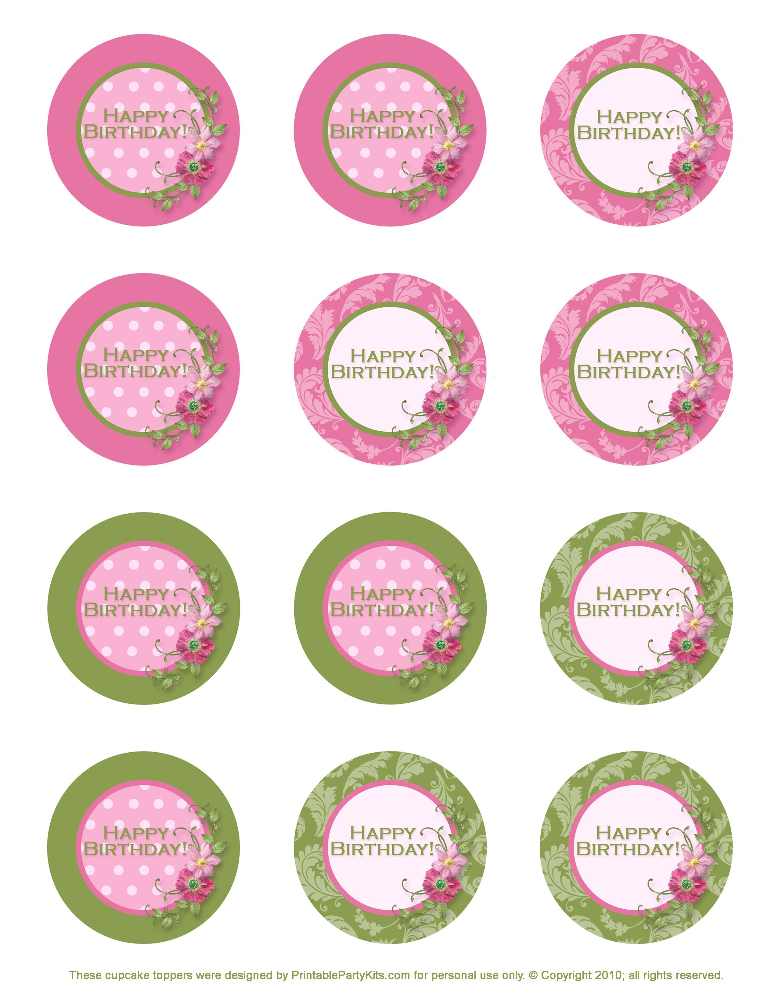 Free Printable Birthday Cupcake Toppers | Crafts | Birthday Cupcakes - Baptism Cupcake Toppers Printable Free