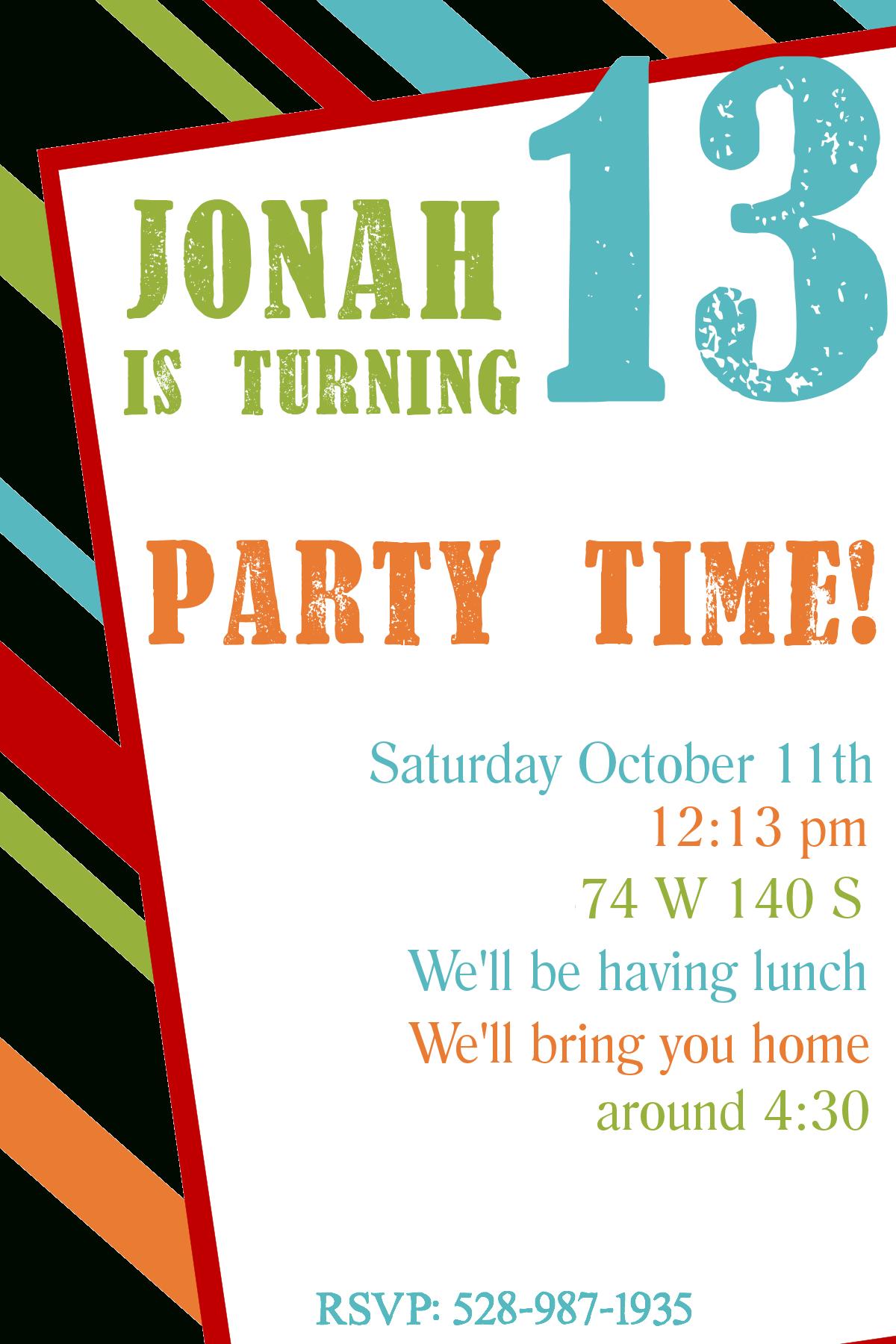 Free Printable Birthday Invitation Templates - Free Printable Birthday Party Flyers