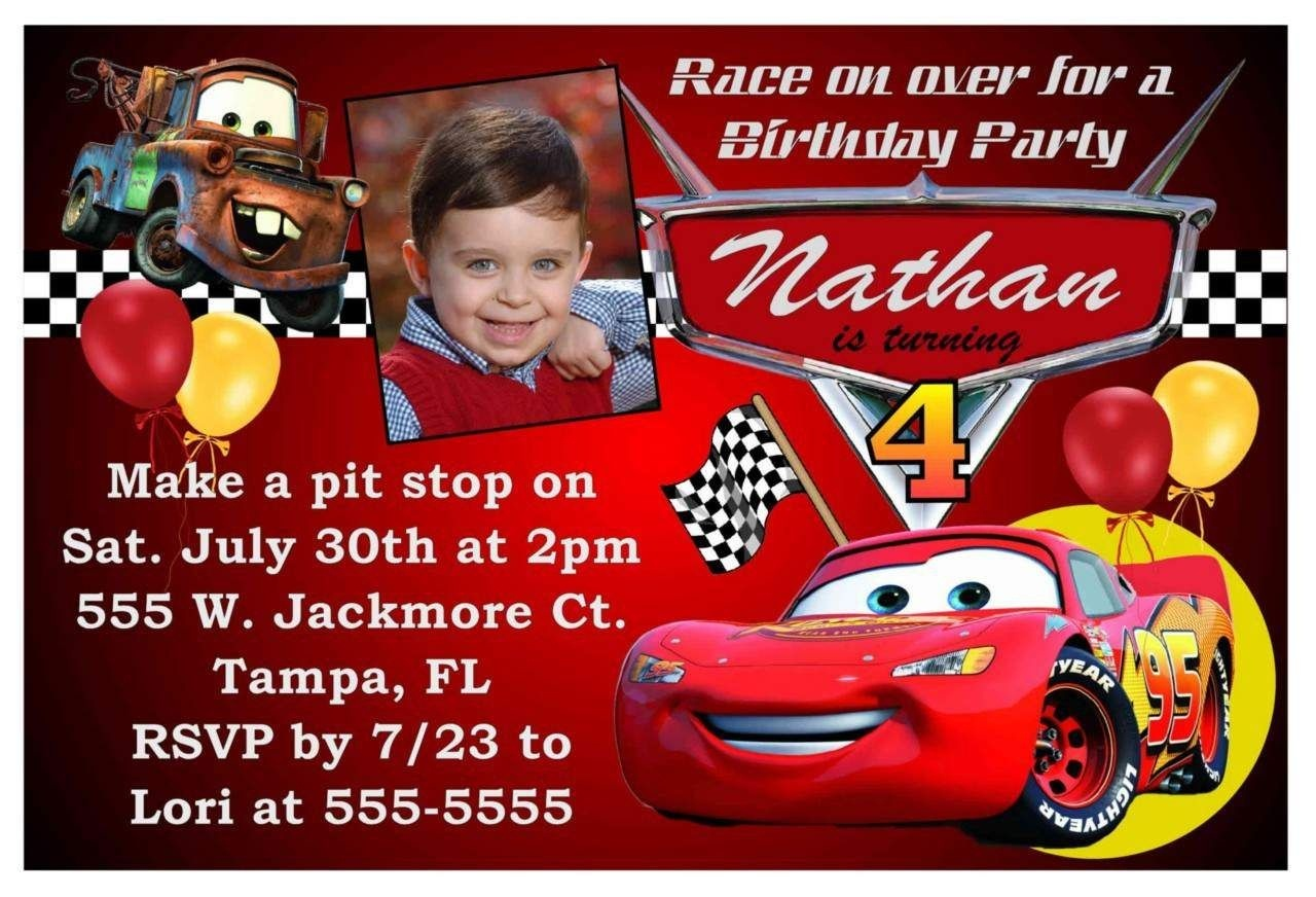 Free Printable Birthday Invitations Cars Theme   Cars In 2019   Cars - Free Printable Disney Cars Birthday Party Invitations
