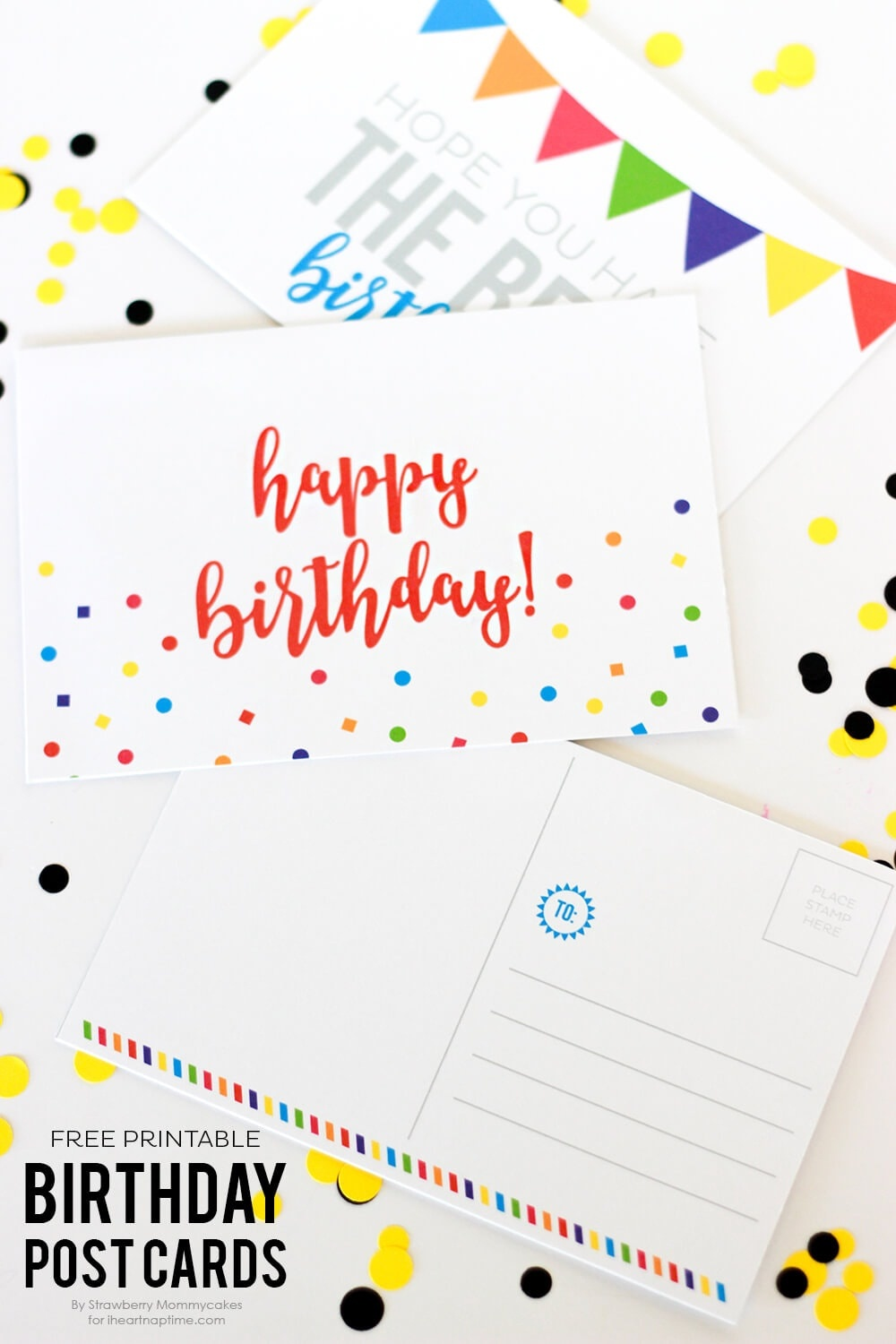 Free Printable Birthday Postcards - I Heart Nap Time - Free Printable Postcards
