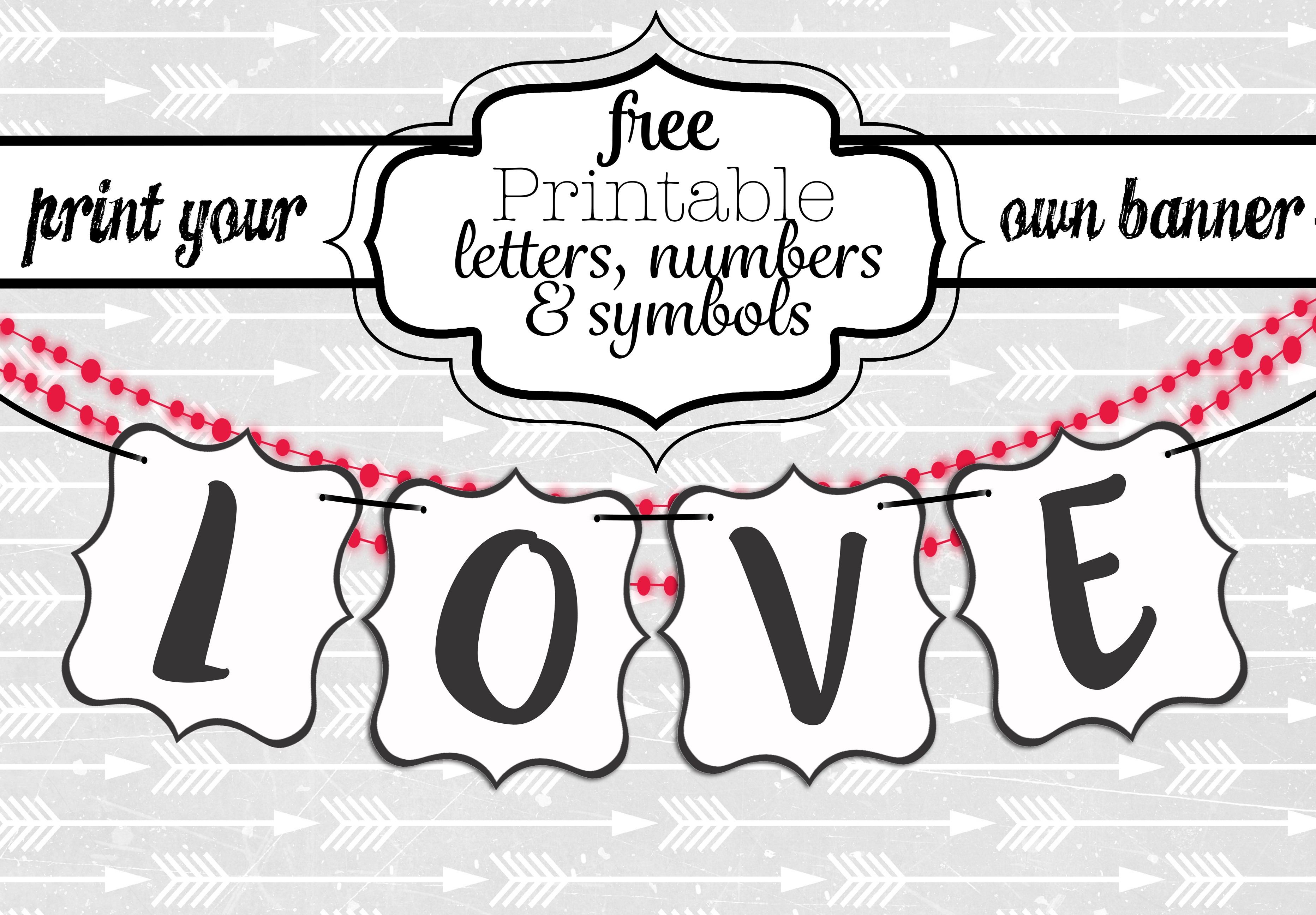 Free Printable Black And White Banner Letters | Diy Swank - Free Printable Whole Alphabet Banner