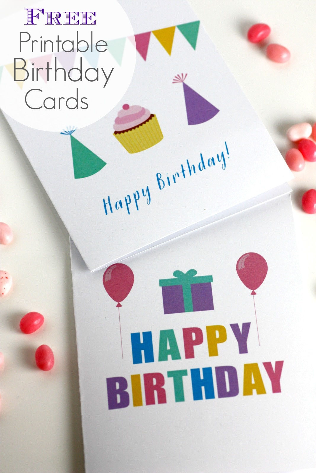 Free Printable Blank Birthday Cards | Catch My Party - Free Printable Birthday Cards