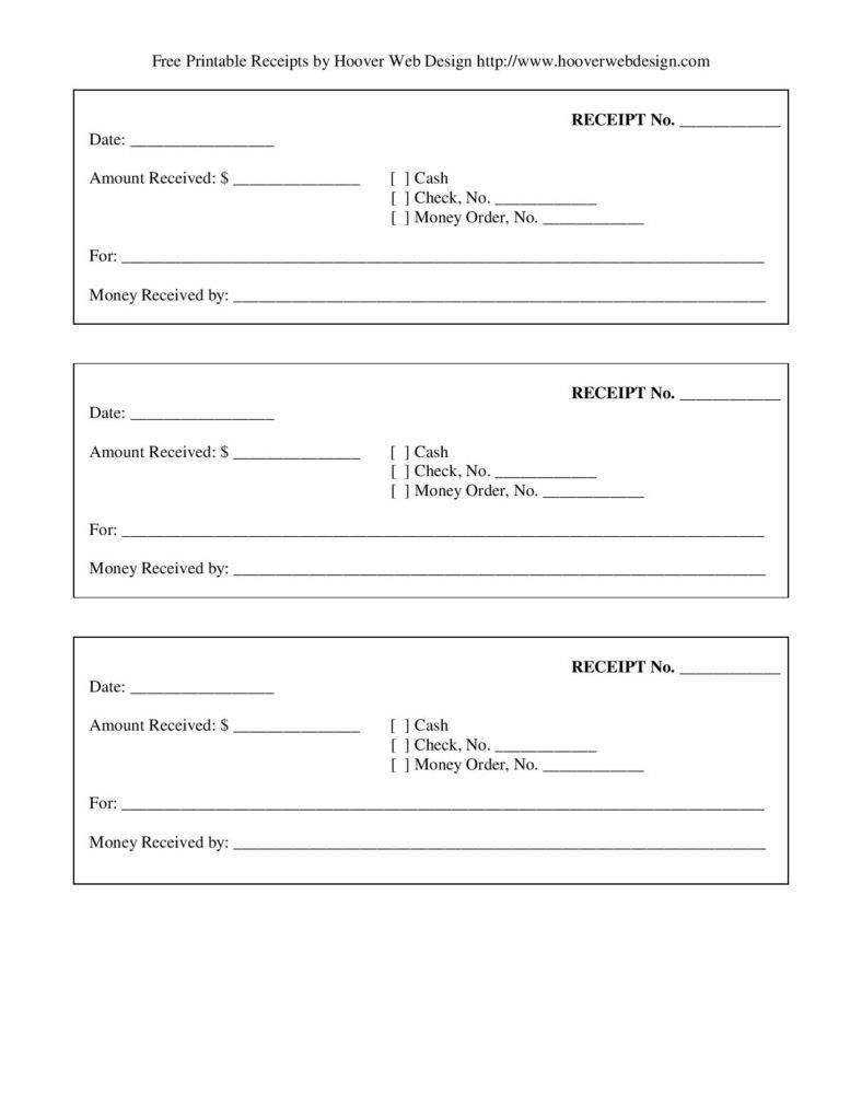 Free-Printable-Blank-Receipt-Form-Template-Page-001   Template's For - Free Printable Receipts