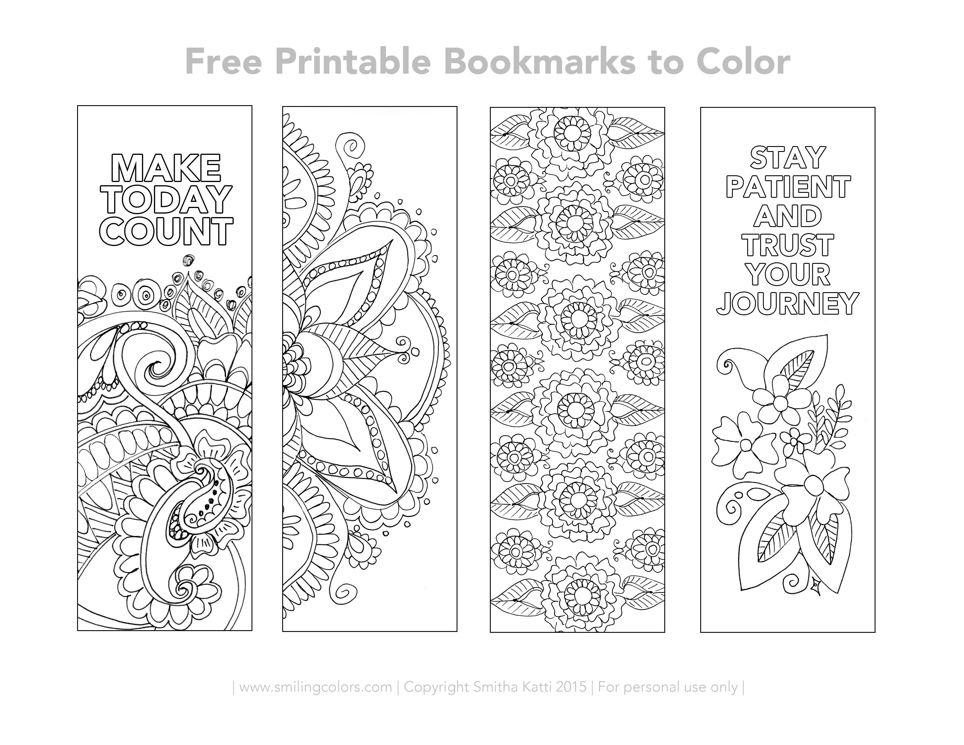 Free Printable Bookmarks To Color   Inspirational   Free Printable - Free Printable Christmas Bookmarks To Color