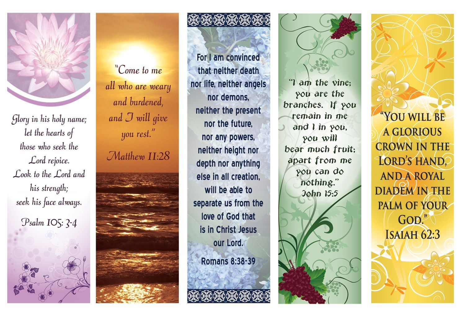 Free Printable Bookmarks With Bible Verses | Bookmarks | Printable - Free Printable Bible Bookmarks Templates