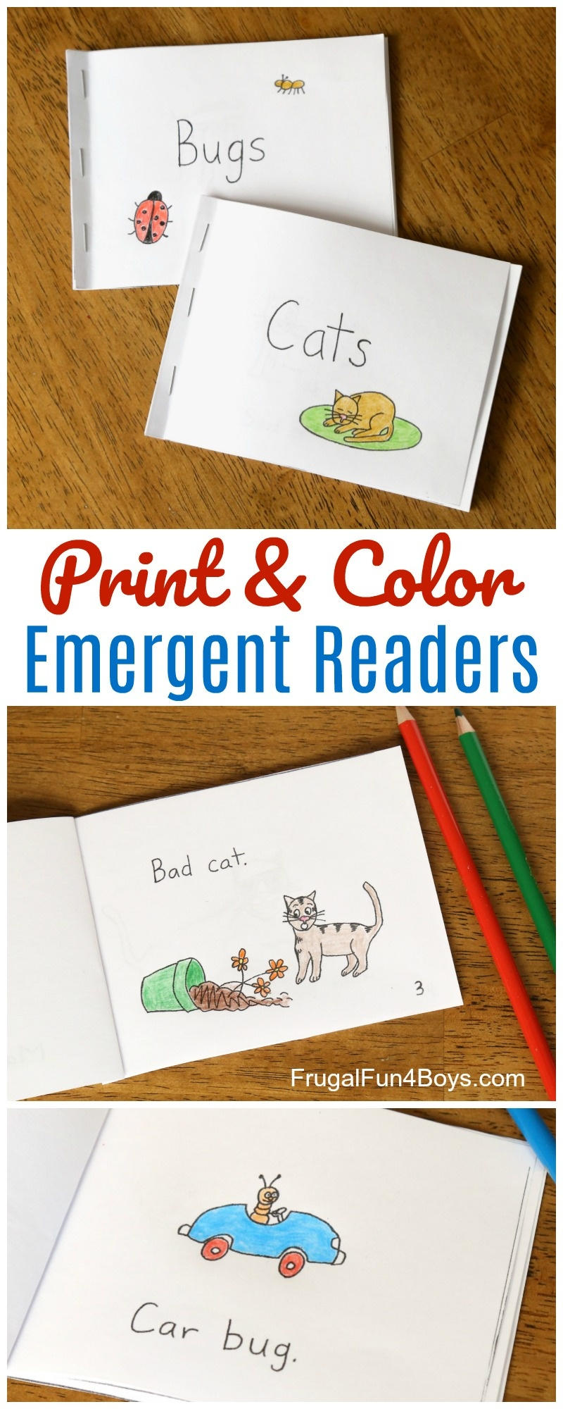 Free Printable Books For Beginning Readers - Level 1 (Easy) - Frugal - Free Printable Books For Beginning Readers