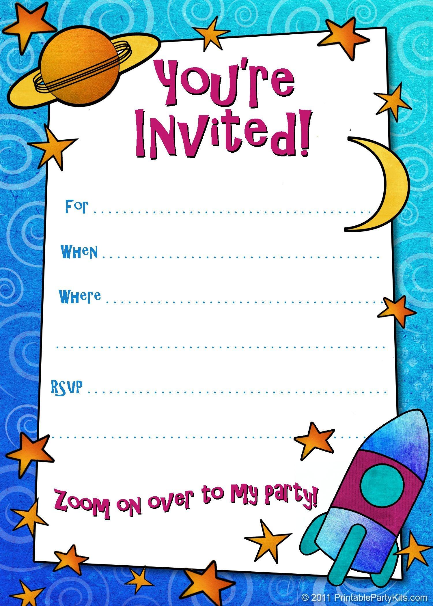 Free Printable Boys Birthday Party Invitations | Birthday Party - Free Printable Toddler Birthday Invitations