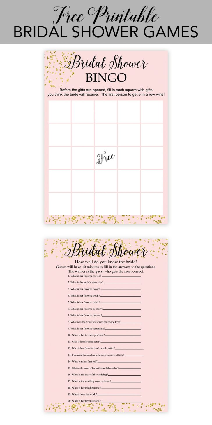 Free Printable Household Shower Games