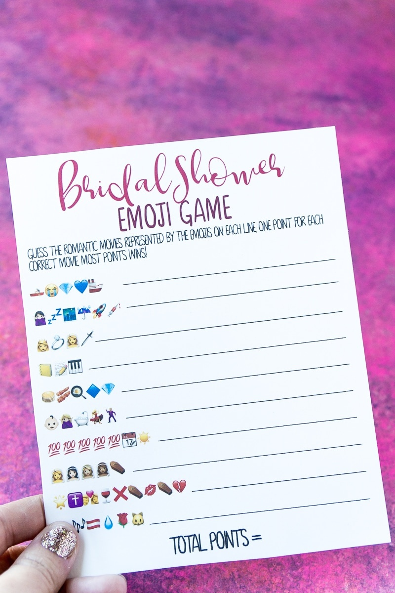 Free Printable Bridal Shower Name The Emoji Game - Free Printable Bridal Shower Games