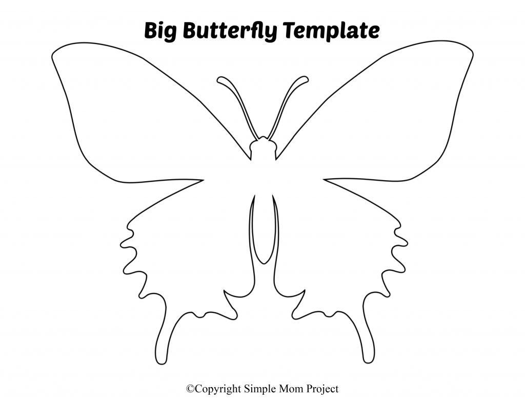 Free Printable Butterfly Templates - Simple Mom Project - Free Printable Butterfly Cutouts