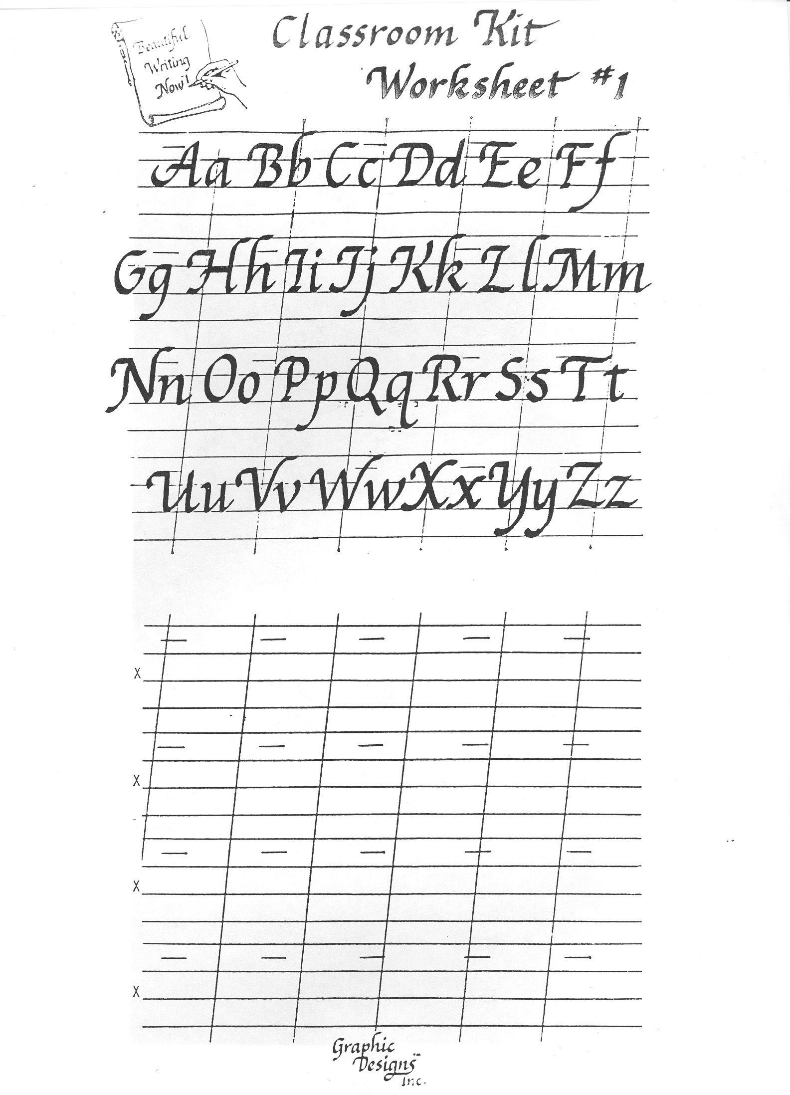 Free Printable Calligraphy Alphabet Practice Sheets | Scrapbooking - Free Printable Calligraphy Worksheets