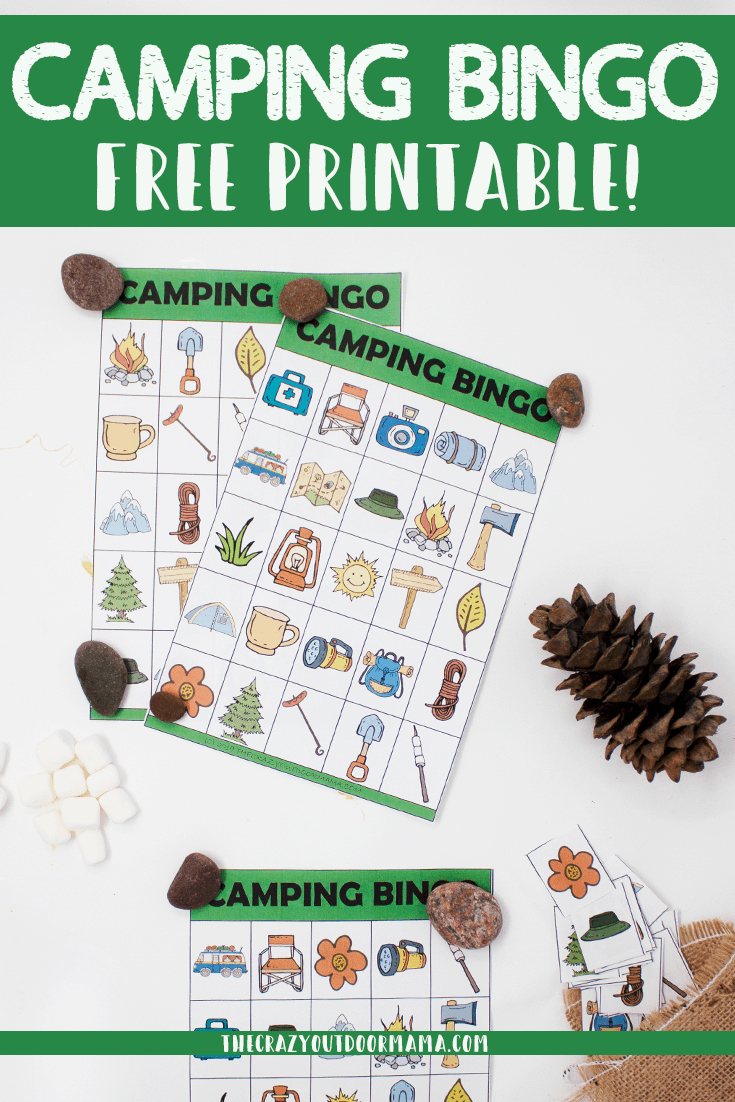Free Printable Camping Bingo Cards - A Fun Camping Party Or Outdoor - Free Printable Camping Games