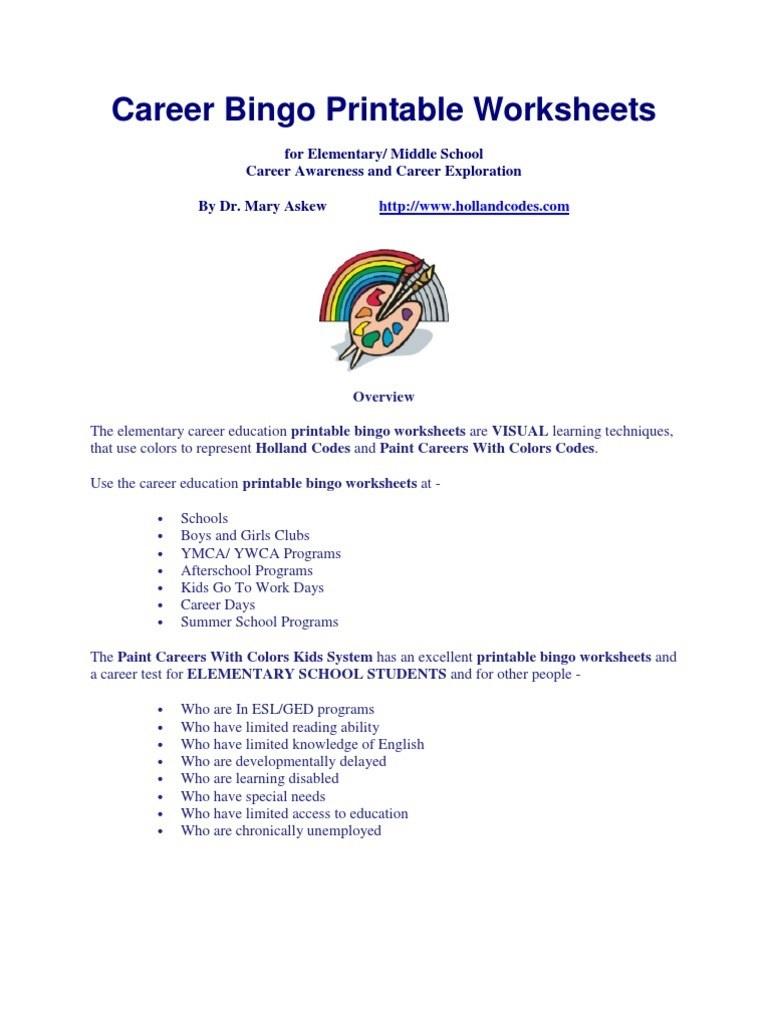 Free Printable Career Test For High School Students – Orek - Printable Career Interest Survey For High School Students Free