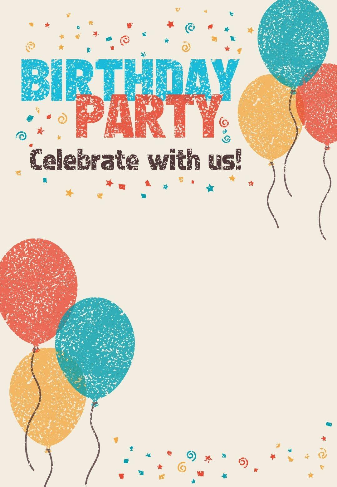 Free Printable Celebrate With Us Invitation - Great Site For - Free Printable Birthday Invitations Pinterest