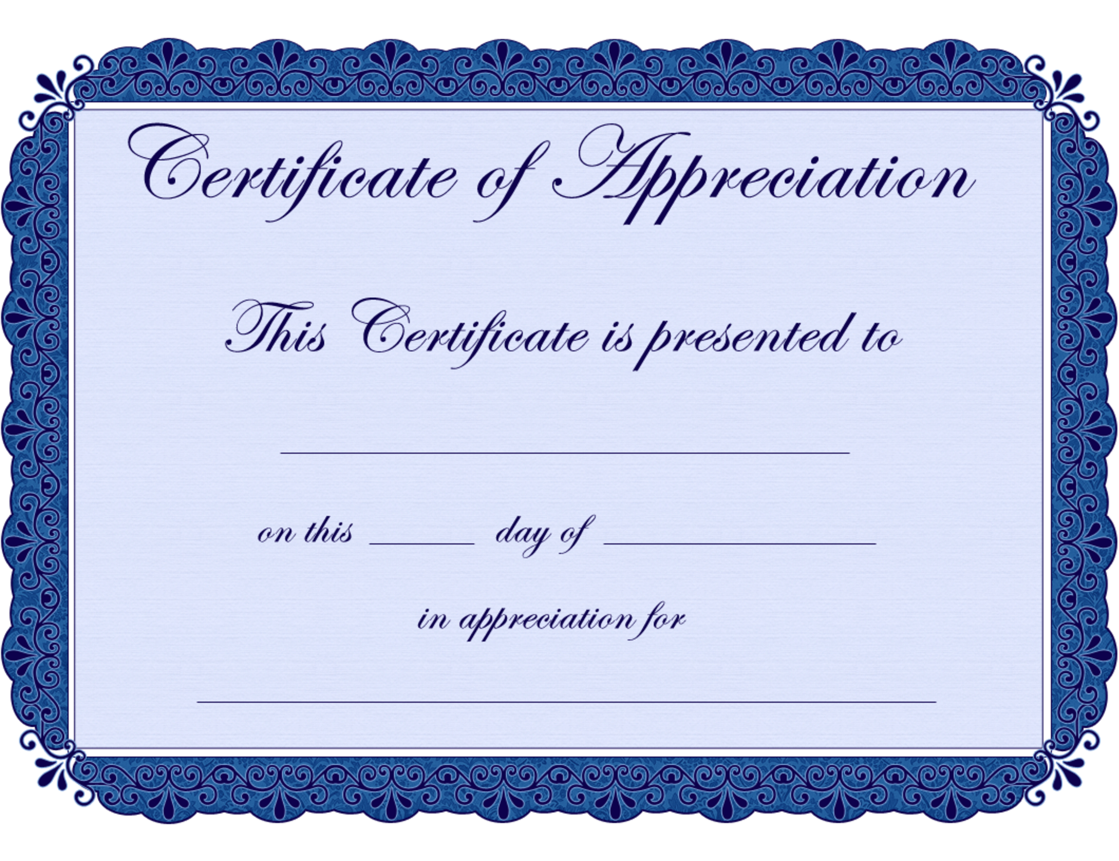 Free Printable Certificates Certificate Of Appreciation Certificate - Free Printable Certificates Of Achievement