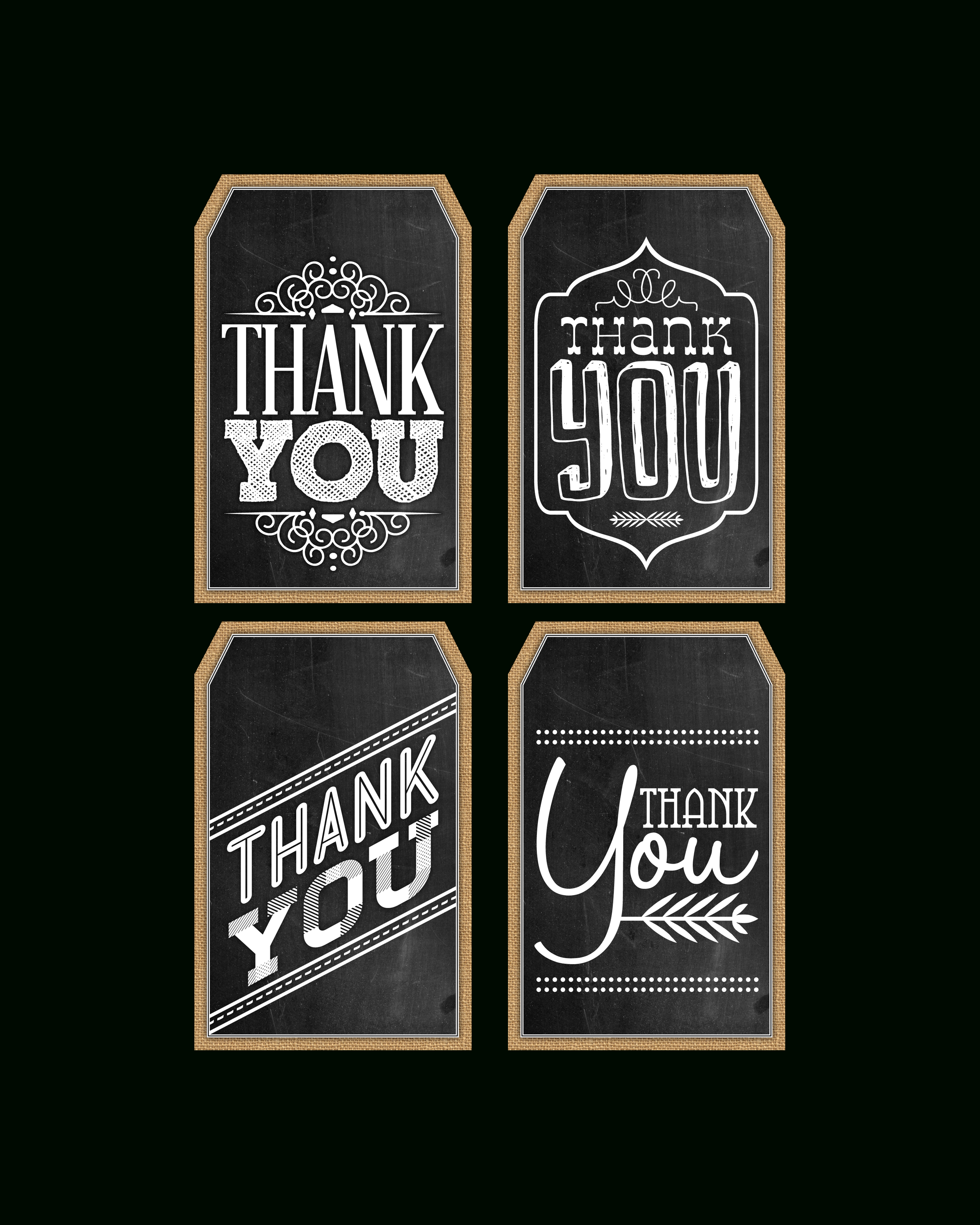 Free Printable Chalkboard Thank You Tags   The Cottage Market - Free Printable Thank You Tags