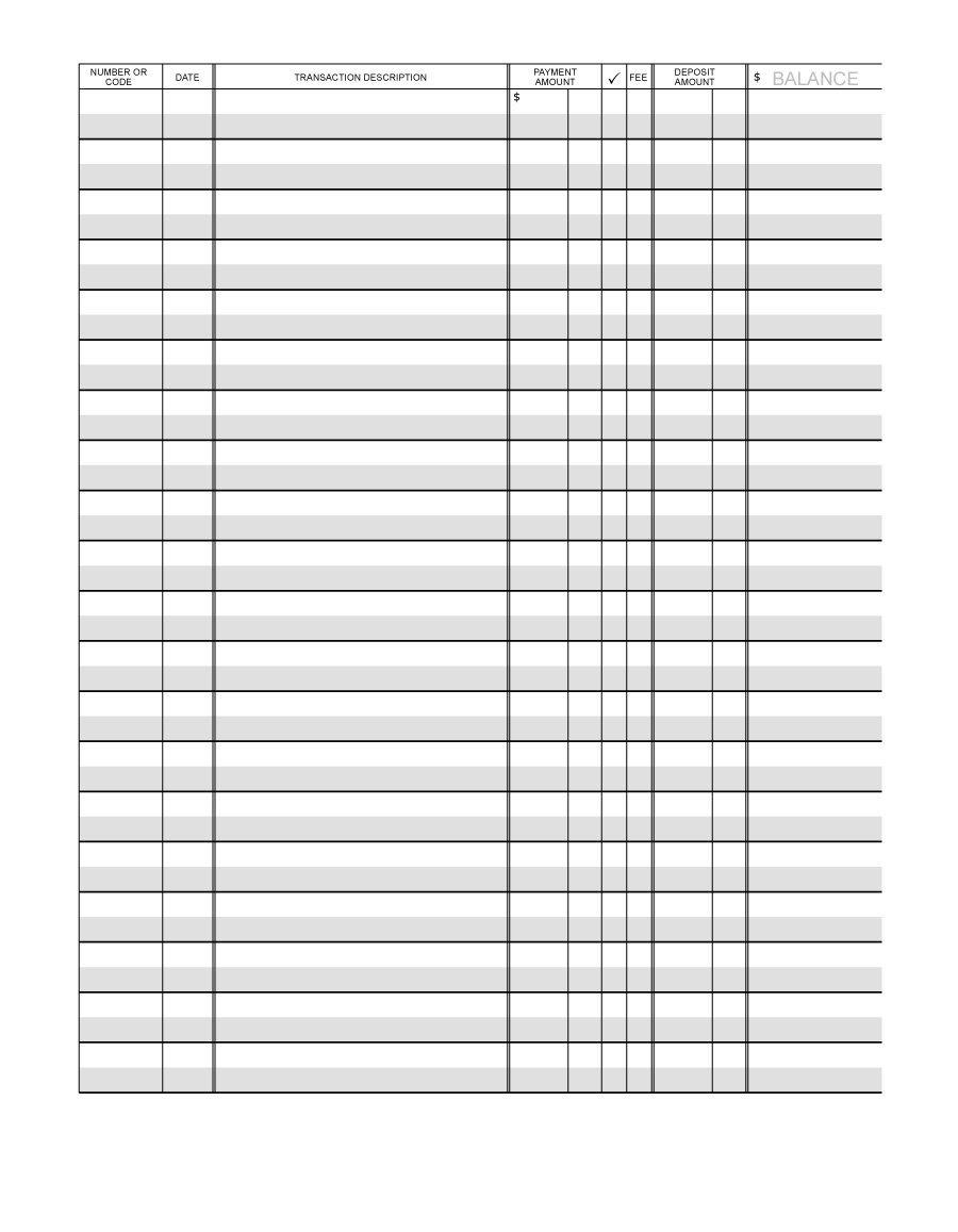 Free Printable Check Ledger - Tutlin.psstech.co - Free Printable Ledger Sheets