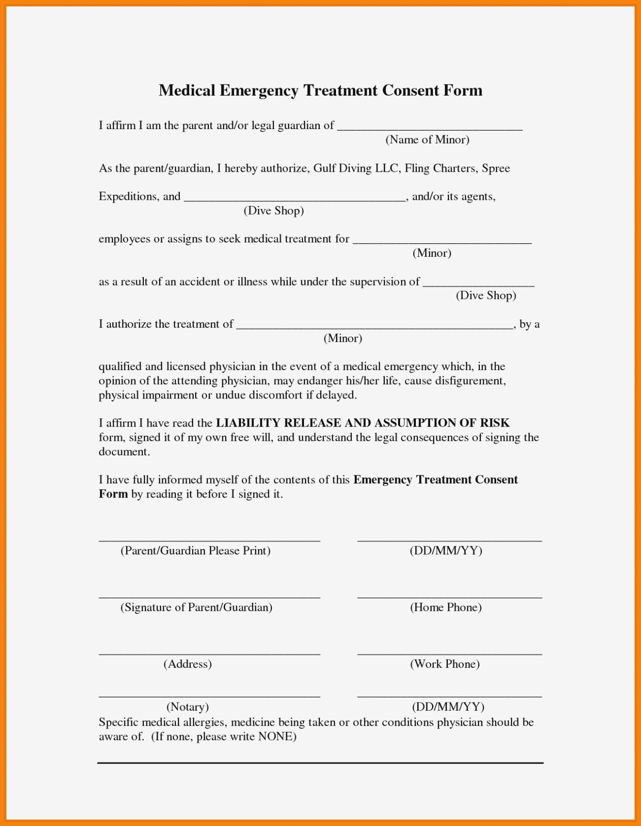 Free Printable Child Medical Consent Form | Resume Examples – Free - Free Printable Child Medical Consent Form