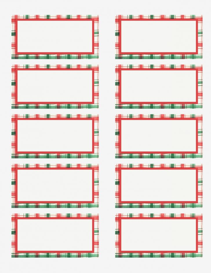 Free Printable Christmas Return Address Label Template