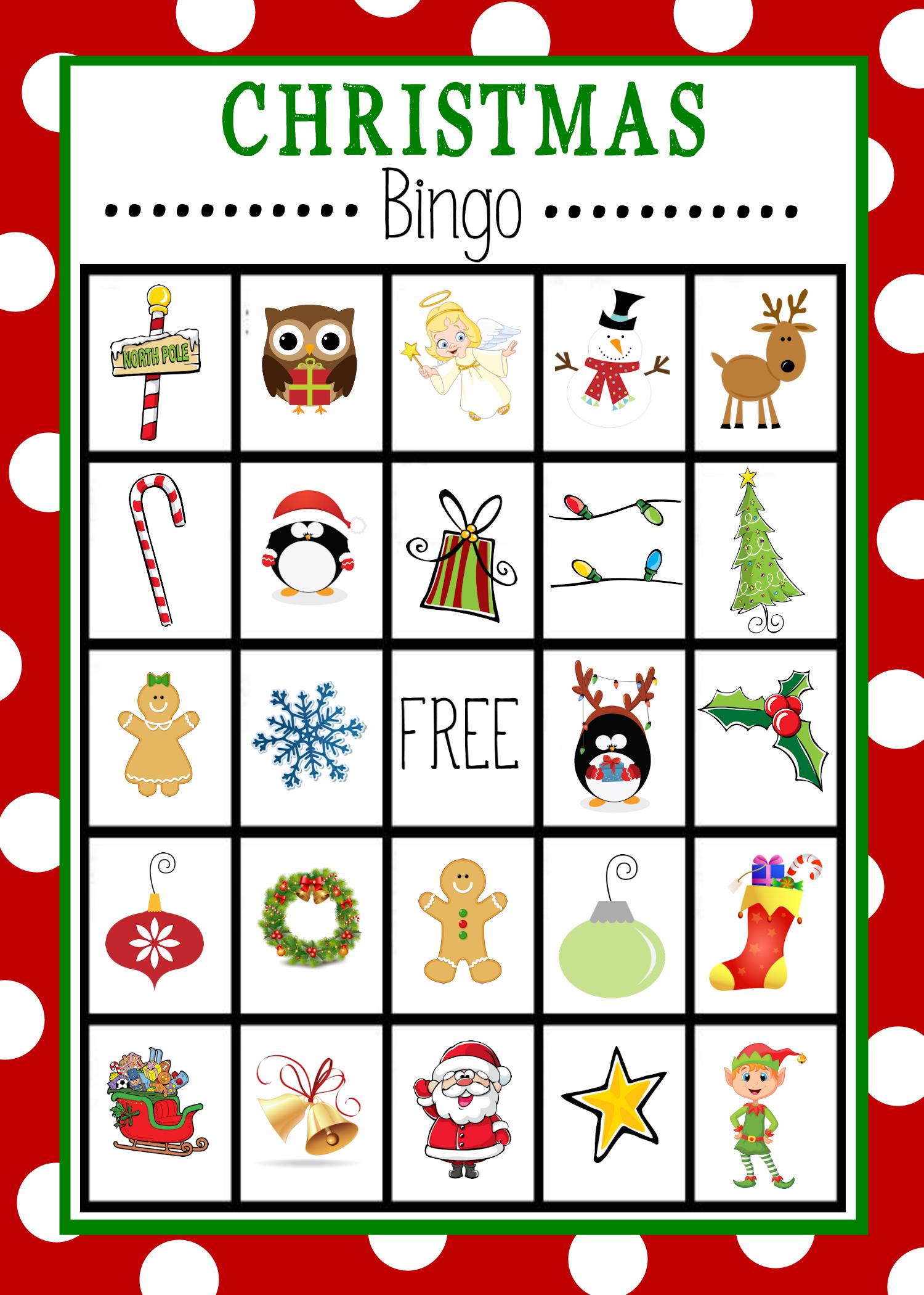 Free Printable Christmas Bingo Game   Christmas   Christmas Bingo - Free Printable Christmas Board Games