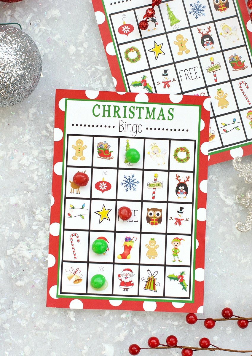 Free Printable Christmas Bingo Game – Fun-Squared - Free Christmas Bingo Game Printable