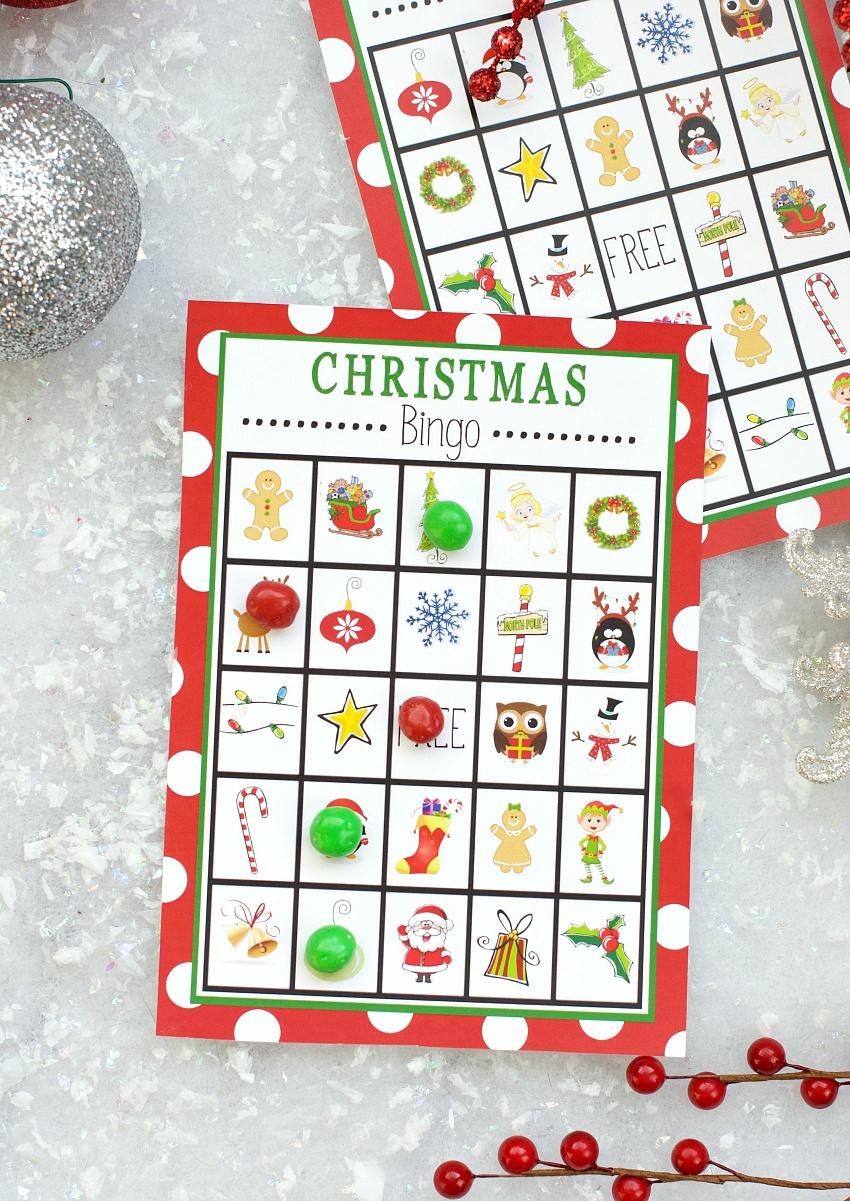 Free Printable Christmas Bingo Game – Fun-Squared - Free Printable Christmas Board Games