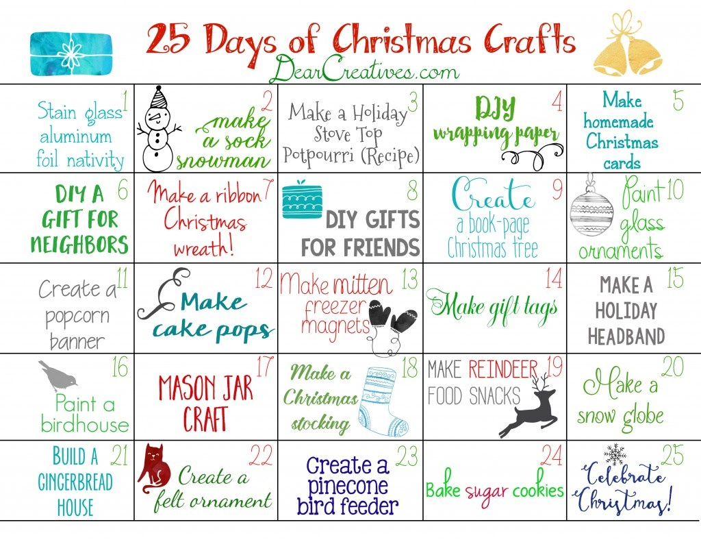 Free Printable Christmas Calendar 25+ Christmas Craft Ideas To Make - Free Printable Christmas Craft Templates
