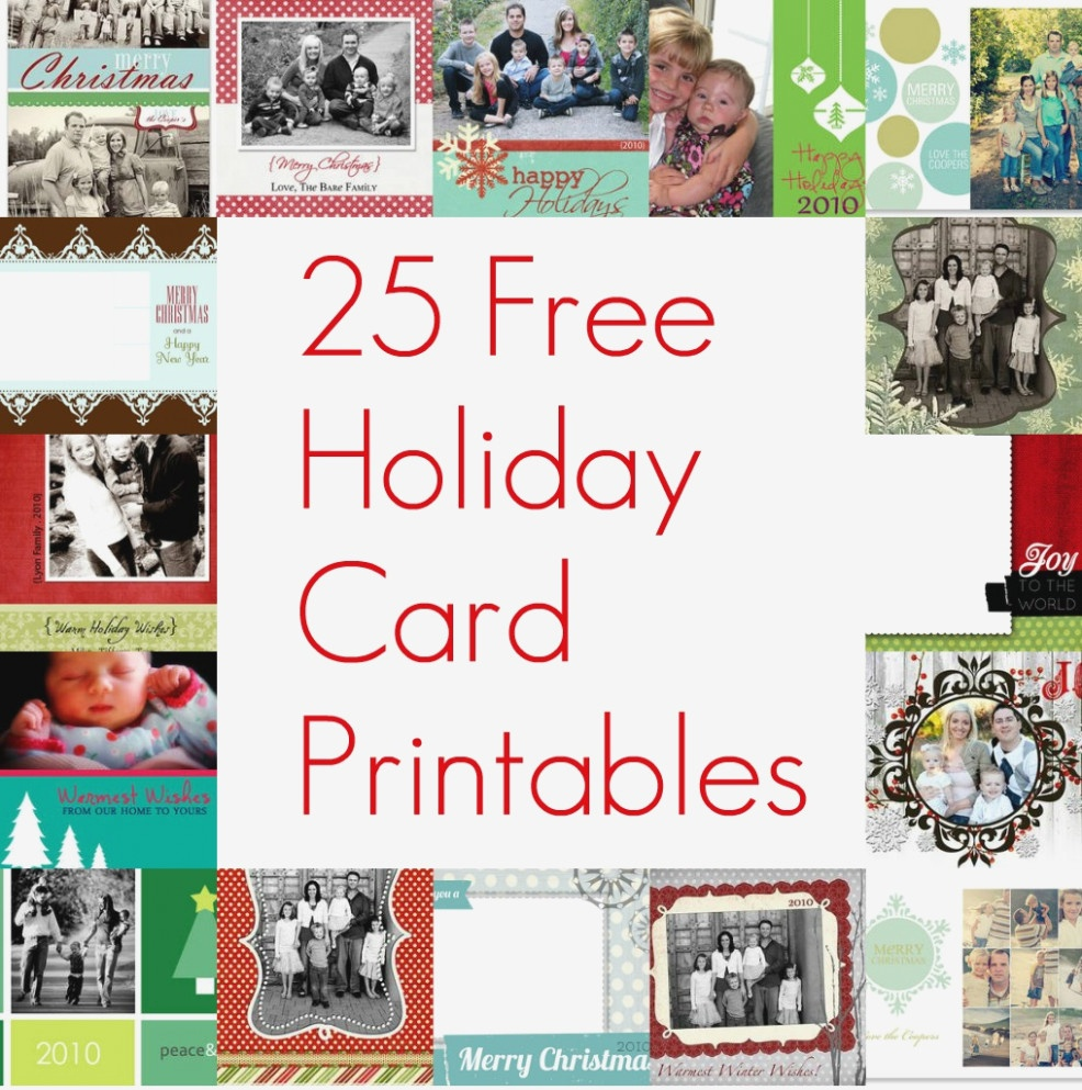 Free Printable Christmas Card Inserts – Happy Holidays! – Photo - Free Printable Christmas Cards With Photo Insert