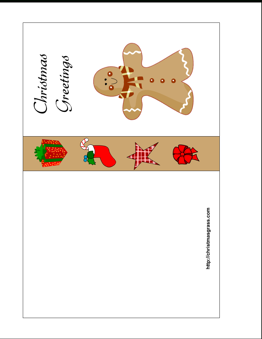 Free Printable Christmas Card With Gingerbread Man - Christmas Cards Download Free Printable