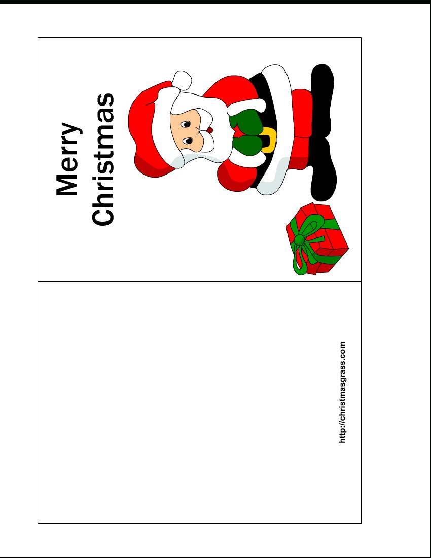 Free Printable Christmas Cards | Free Printable Christmas Card With - Free Printable Christmas Cards