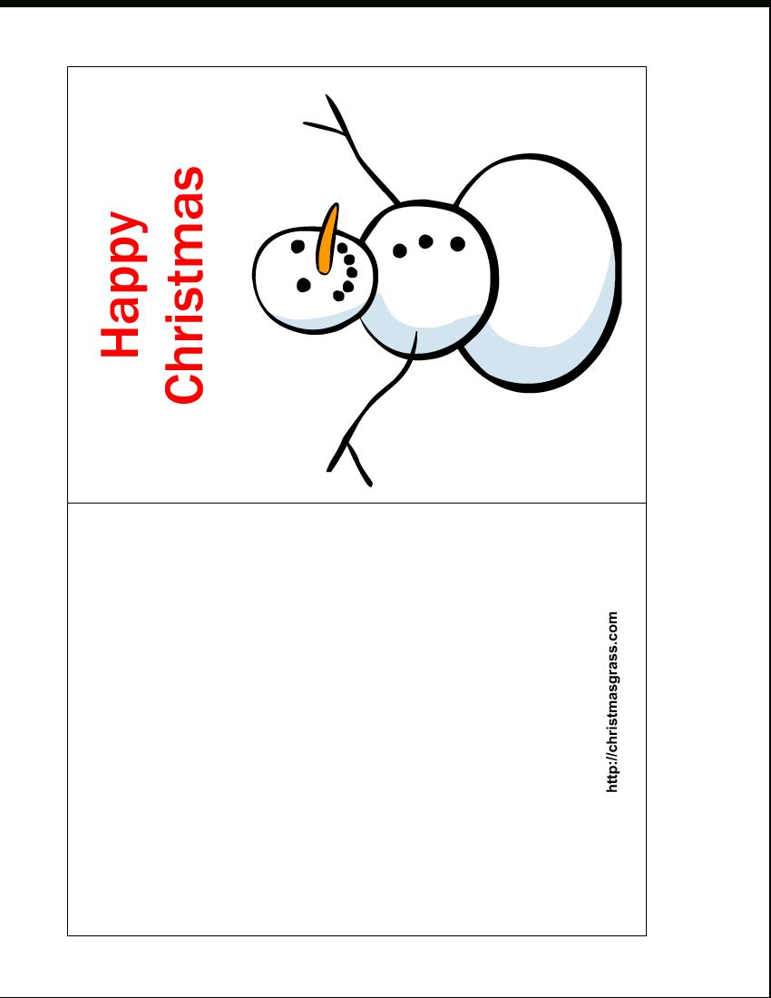 Free Printable Christmas Cards | Free Printable Happy Christmas Card - Free Printable Christmas Cards