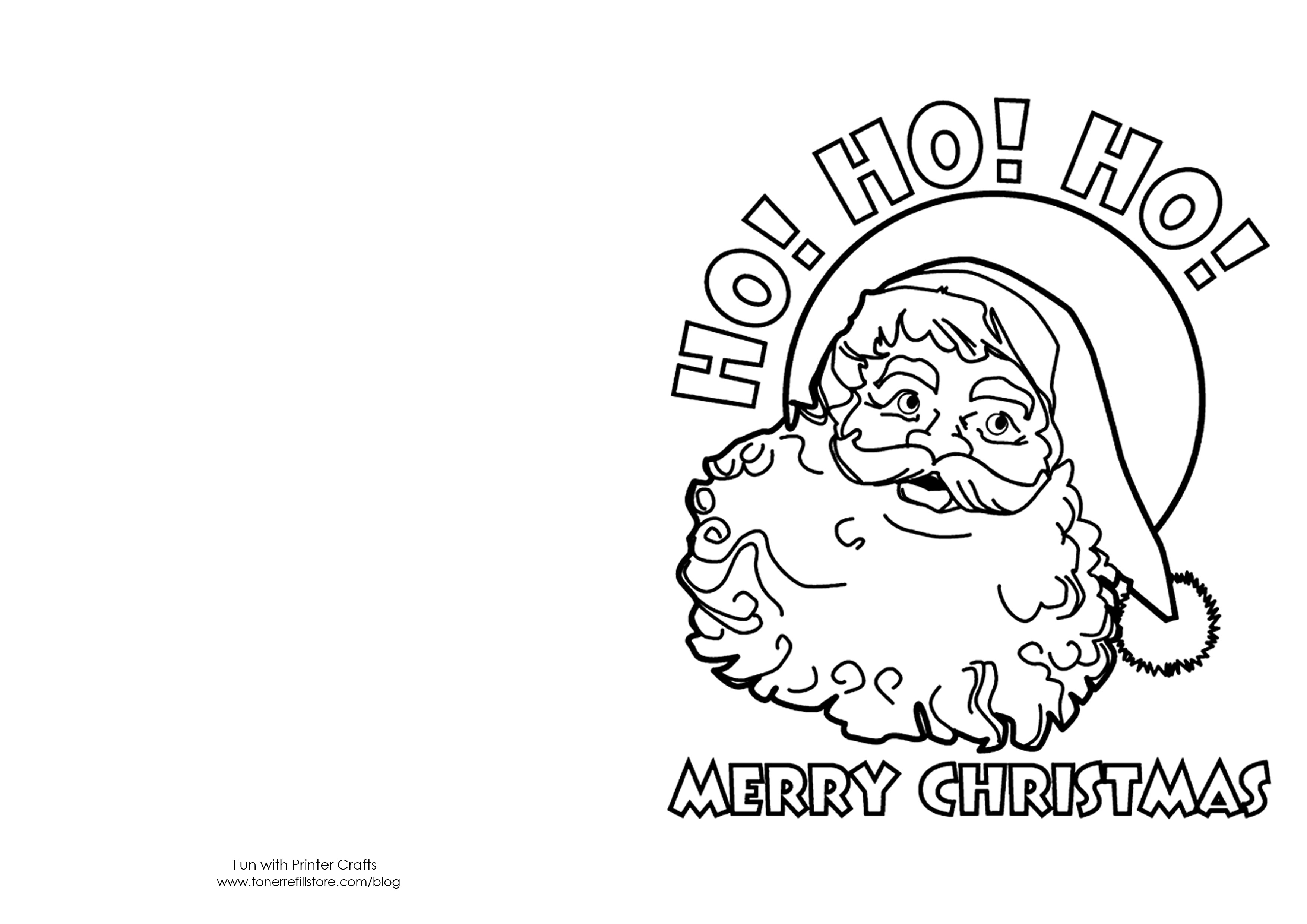 Free Printable Christmas Cards To Color | Presidencycollegekolkata - Free Printable Christmas Cards To Color