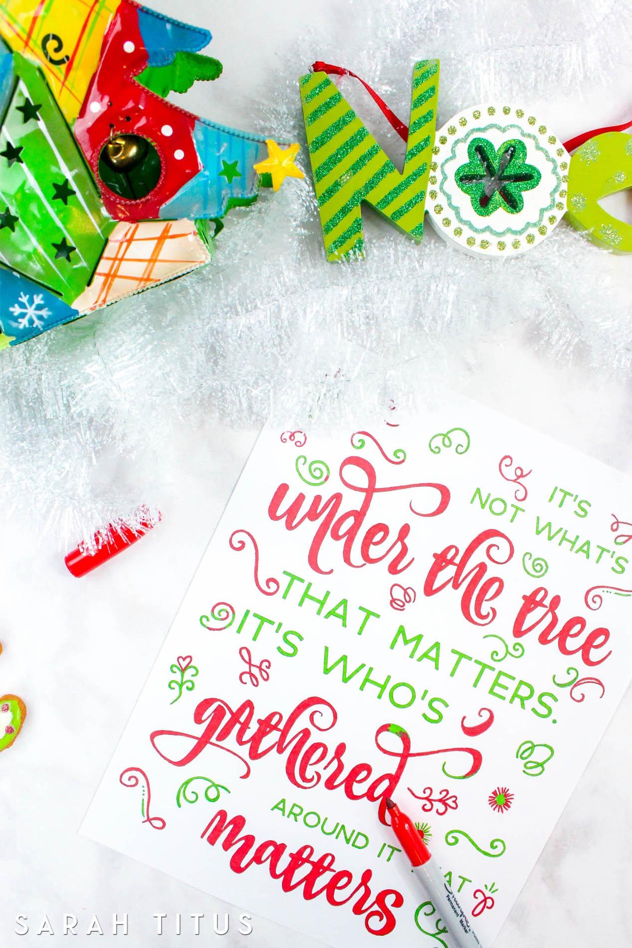 Free Printable Christmas Coloring Sheets - Sarah Titus - Free Printable Christmas Designs