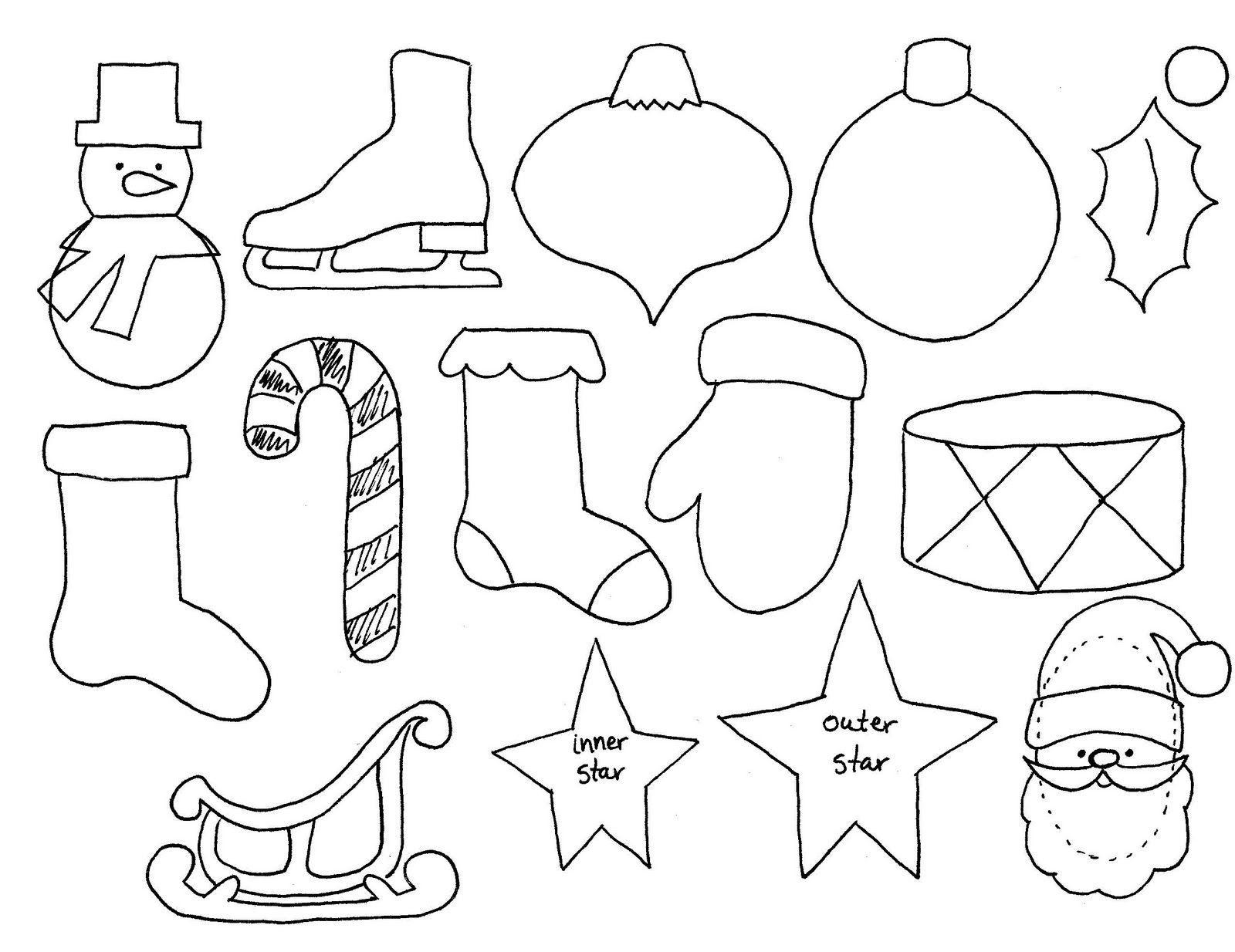 Free Printable Christmas Decoration Templates | Natal | Christmas - Free Printable Christmas Ornament Patterns