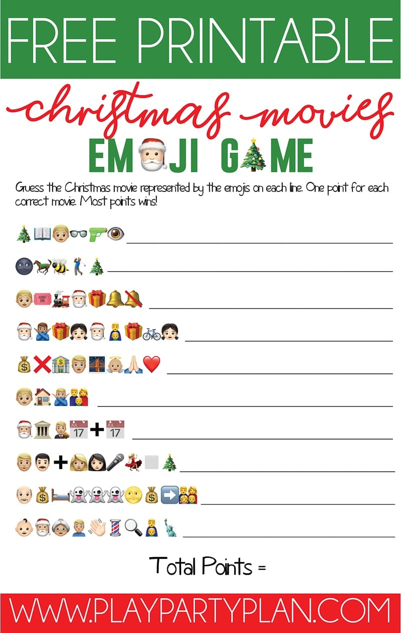 Free Printable Christmas Emoji Game - Play Party Plan - Free Games For Christmas That Is Printable