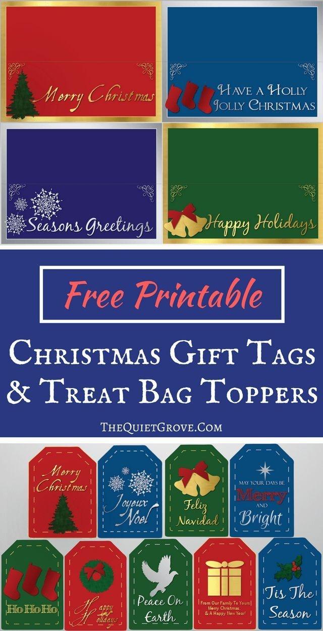 Free Printable Christmas Gift Tags And Treat Bag Toppers | Fabnfree - Free Printable Christmas Bag Toppers