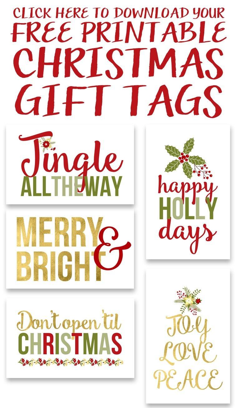 Free Printable Christmas Gift Tags | Crafty 2 The Core~Diy Galore - Free Printable Christmas Gift Tags