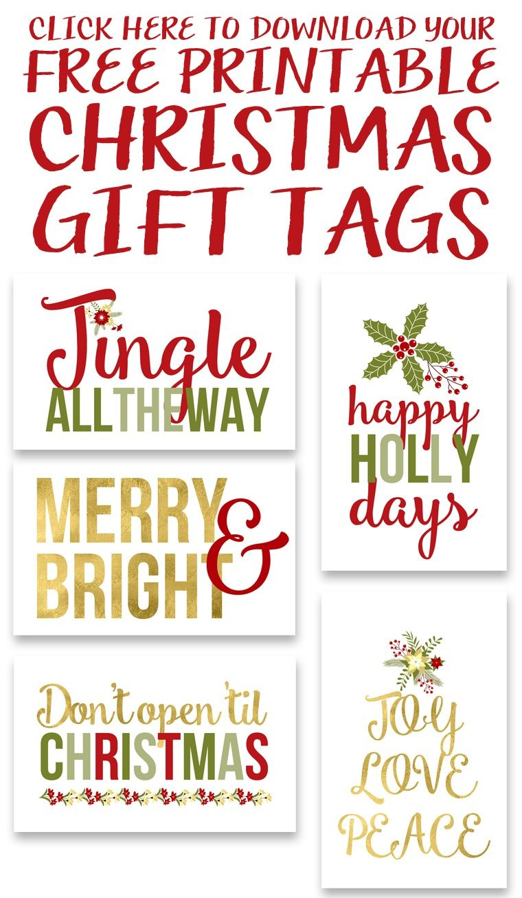 Free Printable Christmas Gift Tags | Crafty 2 The Core~Diy Galore - Free Printable Christmas Tags