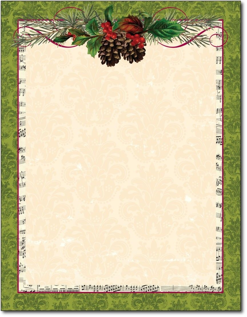 Free Printable Christmas Paper Stationery - Google Search - Free Printable Christmas Stationary Paper