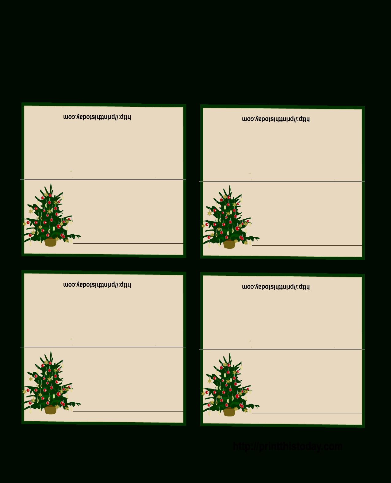Free Printable Christmas Place-Cards - Free Printable Place Card Templates Christmas