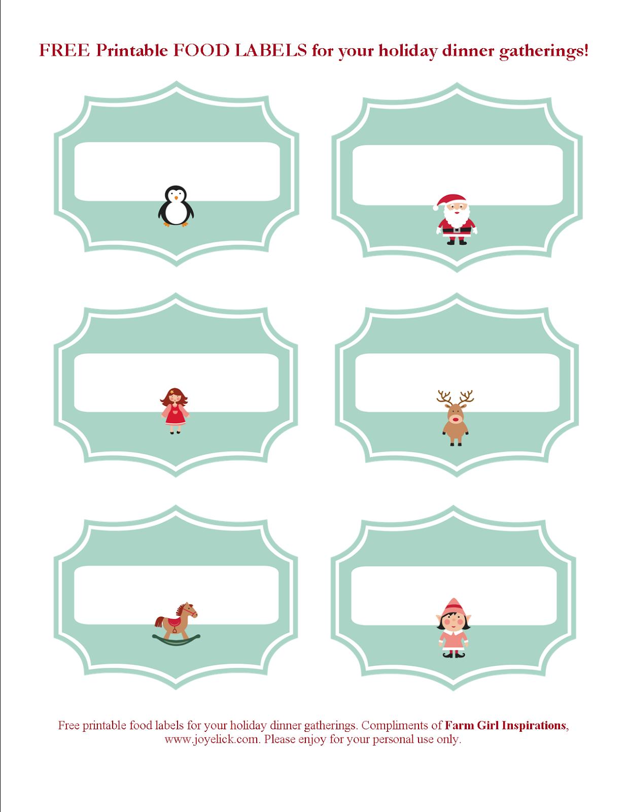 Free Printable Christmas Planner Set: Stay Organized This Holiday - Free Printable Christmas Food Labels