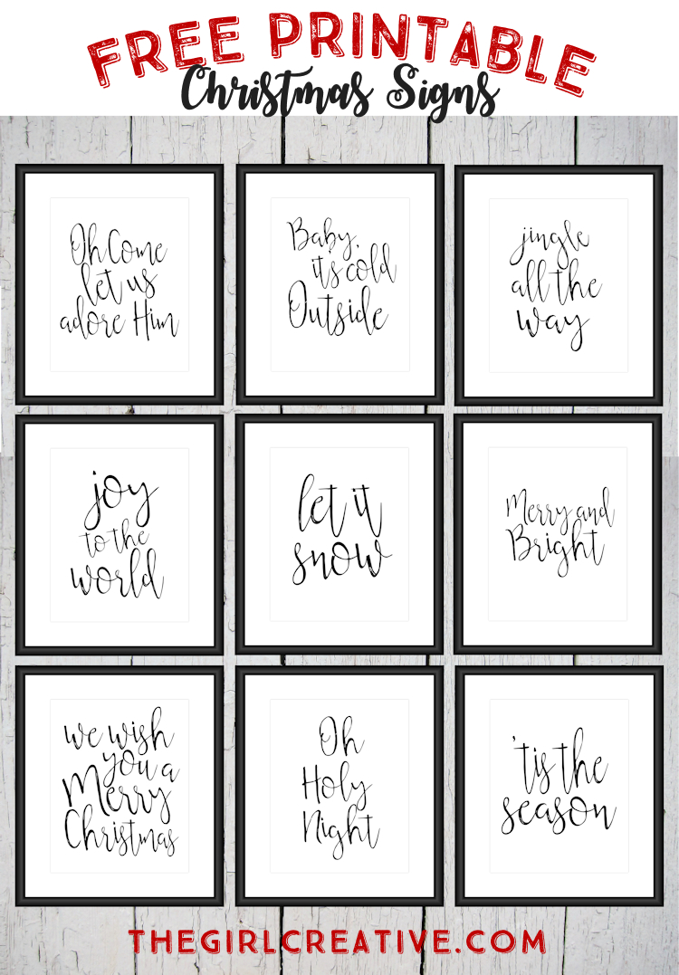 Free Printable Christmas Signs | The Top Pinned | Free Christmas - Free Printable Christmas Craft Templates