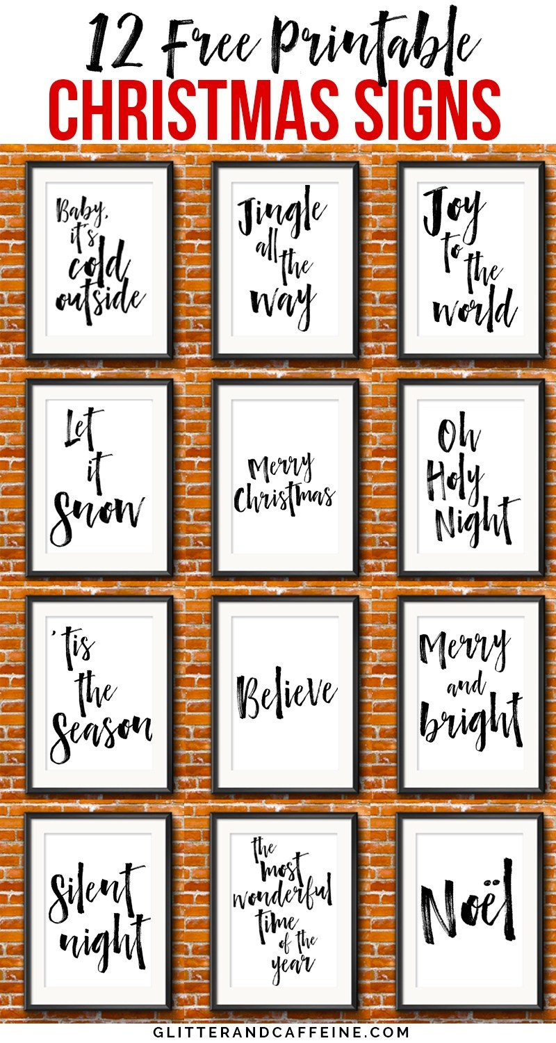 Free Printable Christmas Signs - Tutlin.psstech.co - Free Printable Holiday Closed Signs