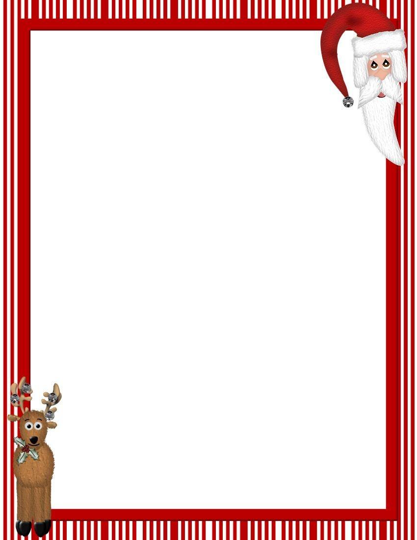 Free Printable Christmas Stationary Borders | Christmasstationery - Free Printable Christmas Borders
