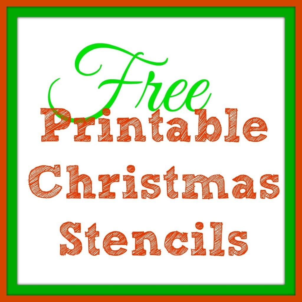 Free Printable Christmas Stencils – Christmas Tree Templates & Santa - Free Printable Christmas Craft Templates